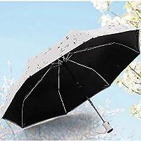 CN Sombrilla Plegable automática Paraguas para Mujer Sombrilla Anti vinílica antiuso para Uso en Sol para