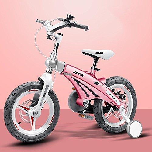 DACHUI Bambino scalabile bike, 3 anno vecchio passeggino, bambino bike, biciclette, mountain bike (Colore : rosa, Dimensioni : 113*38*88cm)