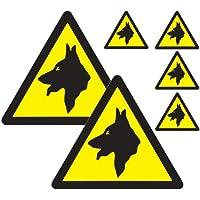Garde les chiens de véhicule Sticker Pack Lot de 6 Panneaux d'avertissement pour chien car auto-adhésifs autocollants en vinyle de qualité supérieure