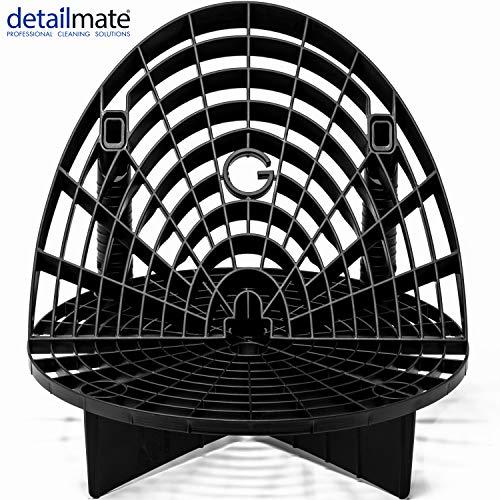 """detailmate Wascheimer Zubehör Set - GritGuard Eimereinsatz 12\"""" schwarz, Waschboard Bucket Insert schwarz für Wascheimer z.B. passend für Chemical Guys 3.5 Gallonen Eimer, Meguiar´s Putzeimer"""