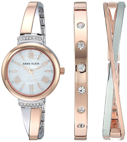 Anne Klein Women's AK-2245RTST Rose-Gold Stainless-Steel Japanese Quartz Fashion Watch