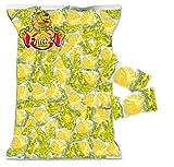 Caramelle Happy Friz Lemon Finazzi kg 1 - Caramella Ripiena Frizzante al gusto di Limone - Busta Trasparente da 1000gr Made in Italy