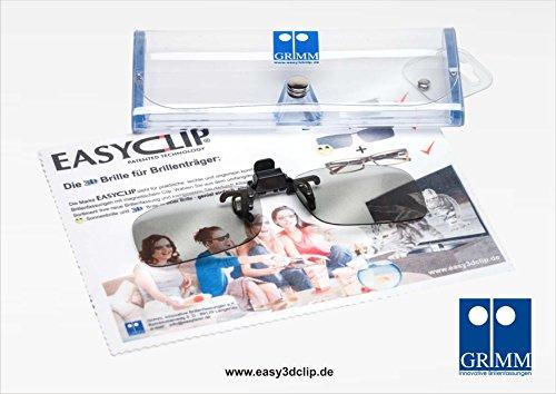 Easy 3D Clip - Aufsatz für Brillenträger - 3D-HD Clip in Größe