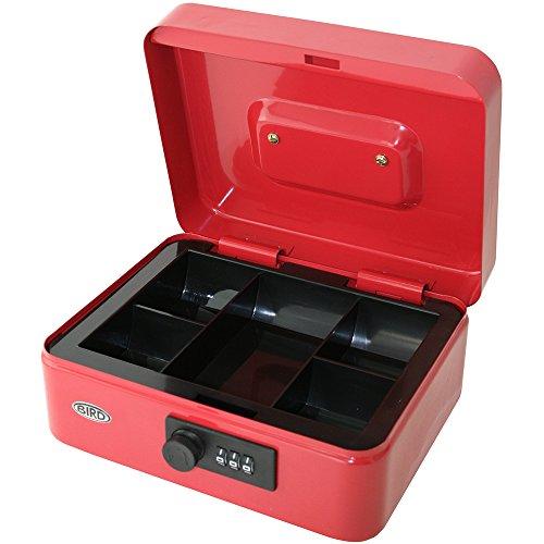 Caja para dinero de 8 pulgadas 20,3 cm con cerradura de combinación y bandeja extraíble con 5secciones...