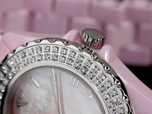 Yves Camani Damen-Armbanduhr Yves Camani Damenuhr Nancy Pink Analog Quarz YC1011-A - 5