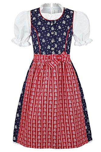 Coala Coala Mädchen Kinderdirndl geblümt blau rot mit Bluse, blau/rot, 74/80