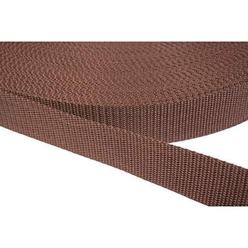 PP Gurtband 50mm aus Polypropylen, 6 Meter lang, 1,2mm Stark/Farbe: 07 - braun -