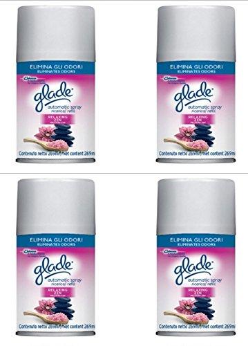 4Ersatzminen Glade für Diffusor Elektro Automatic Spray Refill Relaxing Zen - Spray Refill