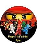 LEGO Ninjago 19,1cm rund Essbar Geburtstag Foto Essbar Cake Topper