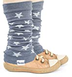 divata Stulpen für Babys und Kinder - Sterne - Kinderstulpen, Babystulpen, Beinlinge, Armlinge für Mädchen und Jungs. Öko Tex Zertifiziert, Grau, 0-8 Jahre