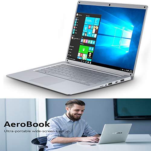 PC Ordinateur Portable Pas Chers Windows 10, 14.1 Pouces FHD IPS Écran Résolution 1920*1080 HD Graphics Laptop Notebook 2Go RAM 32Go eMMC (Argent)