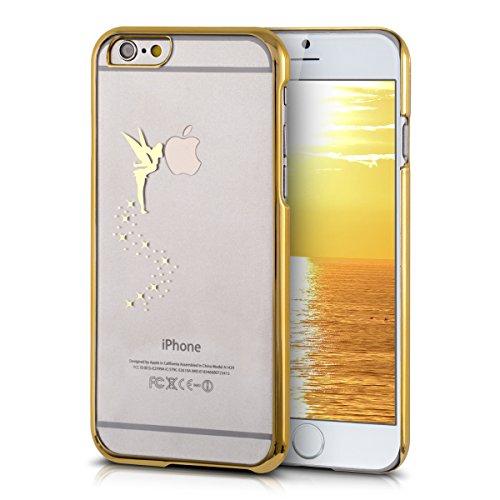 kwmobile Cover per Apple iPhone 6 / 6S - case protettiva per cellulare custodia smartphone back cover trasparente Design fata oro trasparente fata oro giallo trasparente