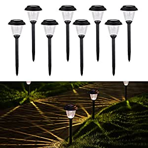 homemory led solaire jardin lumi re lot de 8 sans fil led lampes de le chemin de paysage. Black Bedroom Furniture Sets. Home Design Ideas