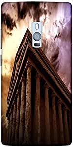Snoogg ancient temple Hard Back Case Cover Shield For Oneplus Two