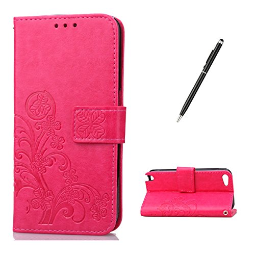 Feeltech for iPod Touch 5/6th PU Leder Hülle- Klee-Rosa Rosa Ipod Touch Fällen