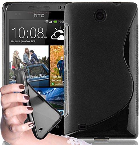 Cadorabo - TPU S-line Style Silikon Hülle für HTC DESIRE 300 - Case Cover Schutzhülle Bumper in OXID-SCHWARZ