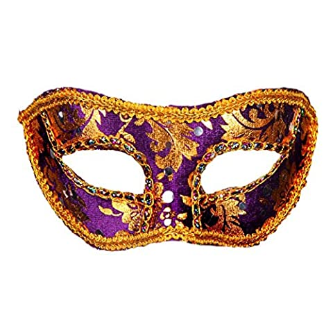 Fairlove Hommes Ou Dames Vénitien Masque De Mascarade Partie Des Yeux Masque Noir Carnaval