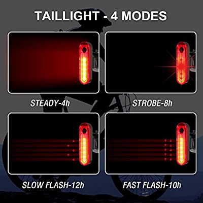 LED Bike Tail Light, ITSHINY USB Rechargeable Bicycle Rear Light Cycling Safety Flashlight, Fits Road, Mountain Bikes, Helmets, Easy to Install for Kids Men and Women from ITSHINY