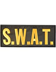 SWAT Large XL 10x4 inch POLICE Bulletproof Vest Tactical Brodé Broderie Fastener Écusson Patch