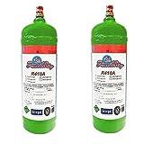 2 BOMBOLE GAS REFRIGERANTE R410A DA 2 LITRI L'UNA immagine