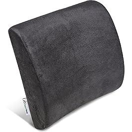 Cuscino lombare memory per terapia della postura – Sostegno ergonomico per la schiena – Cuscino per la casa, l'ufficio…
