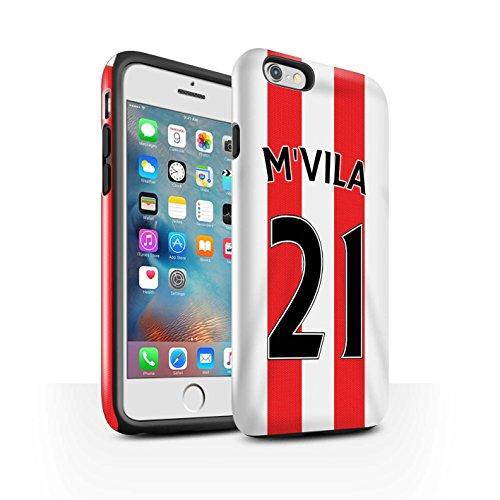 Offiziell Sunderland AFC Hülle / Glanz Harten Stoßfest Case für Apple iPhone 6S+/Plus / Pack 24pcs Muster / SAFC Trikot Home 15/16 Kollektion M'Vila