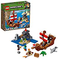 LEGO Minecraft The Pirate Ship Adventure 21152 Building Kit , New 2019 (386 Piece)