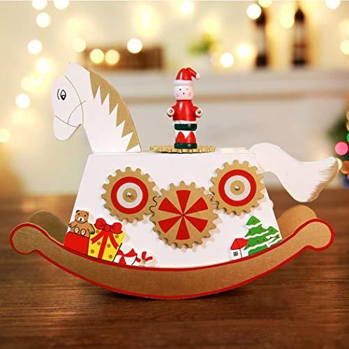 seniu66 Pferd Riesenrad geformt Weihnachten Spieluhr Tischdekoration Boxen & Kästen (Weihnachts-riesenrad)