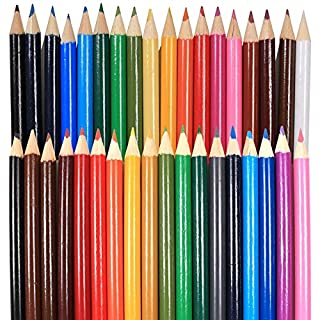 White Hinge 720x Assorted Colour Colouring Pencils - Kids/Childrens Rounded Arts & Craft Set