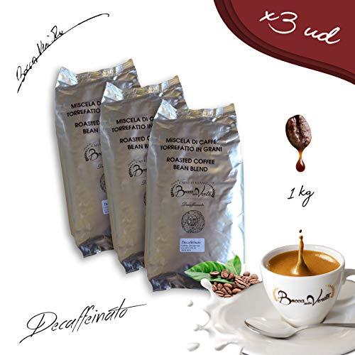 Caffè Italiano Bocca Della Verità Caffè in Grani Torrefatto DECAFFEINATO - 3 Sacchi da 1 KG