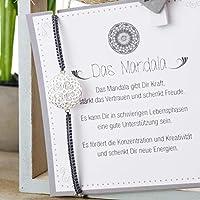 Mandala 925 Silber Armband Geschenk Valentinstag
