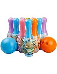 Enfants colorés en plastique de boule de bowling avec mignon Motif, 2balles et 10broches