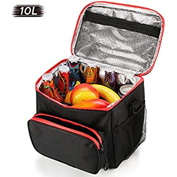 10L Lunch Tasche f/ür Herren and Damen Faxsthy Lunchtasche und Picknicktasche 2 im 1 K/ühltasche
