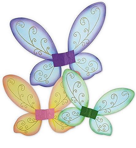 Elfenflügel, Feenflügel, Schmetterlingsflügel in 3 verschiedenen Farben erhältlich, Märchen, Elfen, märchenhaft, zauberhaft (Peter In Ein Pan-kostüm)