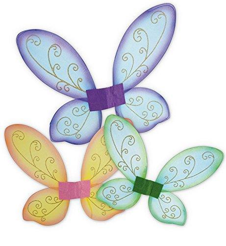 feenfluegel kinder KarnevalsTeufel Elfenflügel, Feenflügel, Schmetterlingsflügel in 3 erhältlich, Märchen, Elfen, märchenhaft, Zauberhaft (Grün)