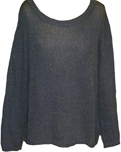 Sheego - Pull - Opaque - Femme Bleu Jeansblau Bleu - Jeansblau