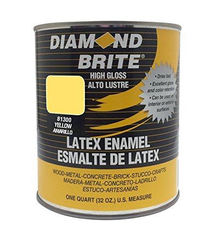 diamond-brite-paint-81300-1-quart-latex-gloss-enamel-yellow-by-diamond-brite-paint