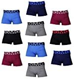 UOMO 10 x Boxershorts klassisch modern verschiedene Modelle und Farbvariationen Schwarz Uni Mix Muster aus Mikrofaser (S/M, M-906)