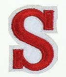 Rechere Aufnäher, 26Buchstaben des Alphabets, Großbuchstaben S