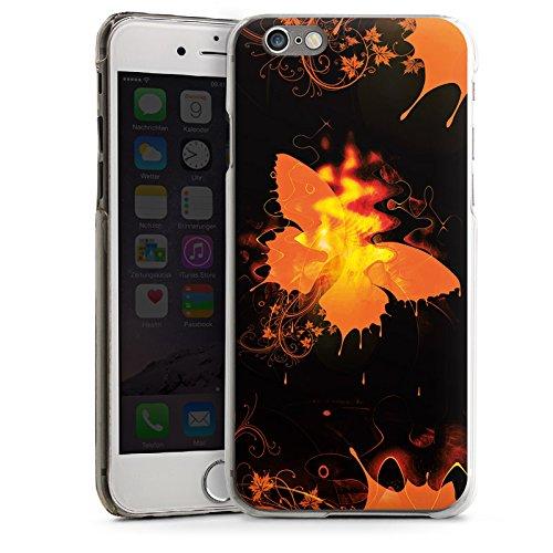 Apple iPhone 4 Housse Étui Silicone Coque Protection Papillon Feu Feu CasDur transparent