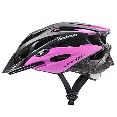Meteor® Bike Bicycle Cycle Helmet MV29Unrest: Mens & Youths Bike Cycling Helmet for Cycling, for Hover Board, InLine Skate, BMX Bike, Scooter. Developed for the safety of the tiniest User: The Helmet Circuit Certificate–89/686/EEC and has a conti