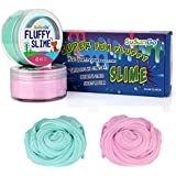 Fluffy Floam Slime - SuSenGo 12 OZ Pink And Baby Blue Jumbo Fluffy Floam Slime Strees Relief Toy Gifts For Kids And Adults, Super Soft And Non-sticky