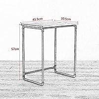 Comparador de precios Sofá Mesas de estilo industrial retro sofá de la sala de estar algunas simples mesa de té de madera mesa de té de hierro forjado creativo sofá lateral tubo de hierro tabla de teléfono (Tamaño: 63.5 * - precios baratos