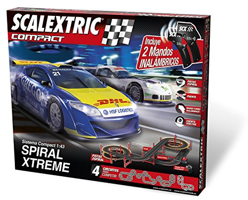 Scalextric Compact - Spiral X-Treme, circuito inalámbrico (C10233S500