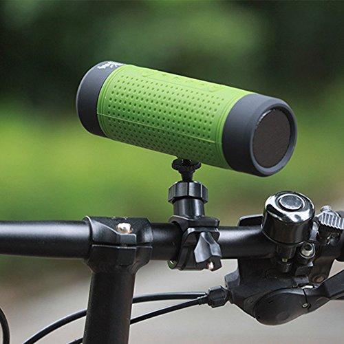 SueSupply Bluetooth Fahrrad Lautsprecher Bluetooth Spritzwassergeschützter Tragbarer Lautsprecher Subwoofer, Portabel für die Benutzung draußen, Beim Sport Oder Campen,Grun