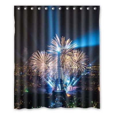 Dalliy torre eiffel costume tenda della doccia shower curtain 152cm x 183cm