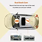 HP Dash Cam front and rear Dual Lens In Car Camera DVR Full HD 1080P,3.0 IPS Screen,Built-in GPS Tracker,Night Vision,G-sensor, Motion Detection,Parking monitor