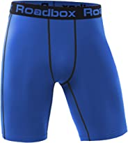 Roadbox Men's Running Compression Shorts, Baselayer Cool Dry Sports Tights Active Athletic Workout Underwear