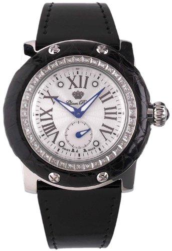 Glam Rock GR10021 - Reloj para Mujeres, Correa de Cuero Color Negro