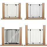 van Hoogen® Modelo CLEA | apta para 62 – 212 cm | Altura 77 cm | Sin taladrar | Reja protectora para puertas y escaleras en 3 colores | Montaje sencillo | Seguridad para bebés y perros